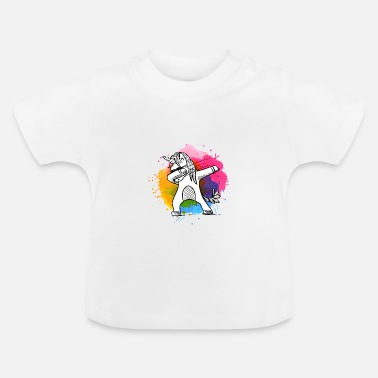 Unicorn Dabbing unicorn, unicorn, unicorns with colors - Baby T-Shirt