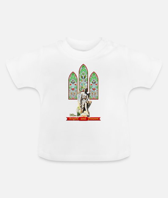 Heart Baby T-Shirts - Angels and flowers: Angelica archangelica - FEDVAL - Baby T-Shirt white