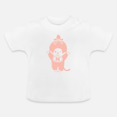 Monkiki Orange pastel - T-shirt Bébé
