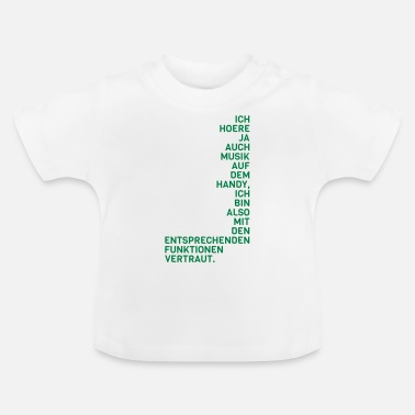 Mobil Telephone mobil musik - Baby-T-shirt