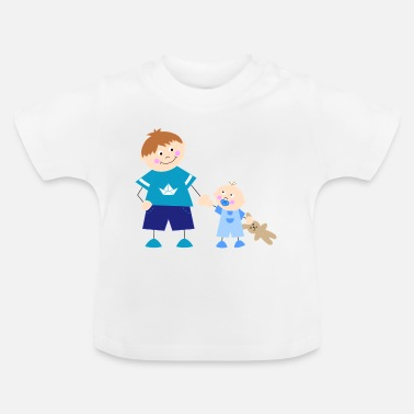 Little Brother The big brother and the little brother - Baby T-Shirt