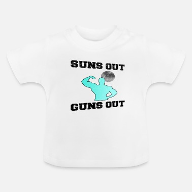 Sun is out .. showing muscles - Baby T-Shirt