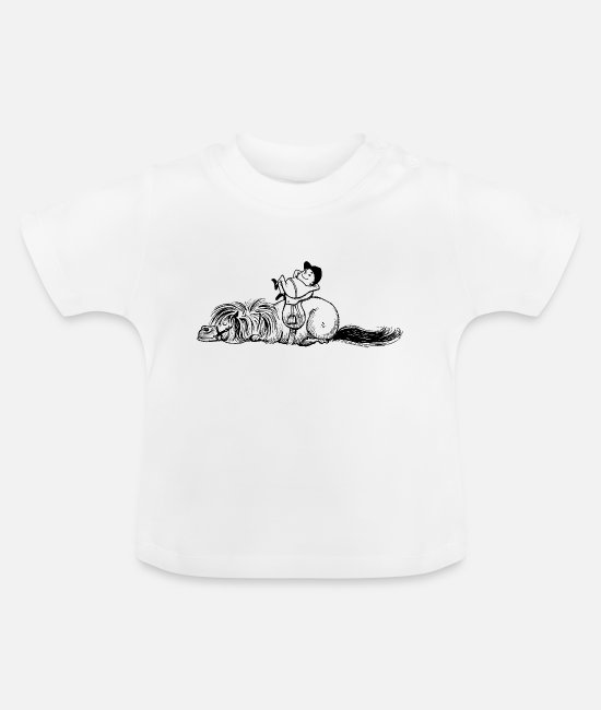 Dressuur Baby shirts - Thelwell 'Pony is sleeping' - Baby T-shirt wit
