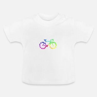Triangle Road bike made of triangles - Baby T-Shirt