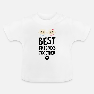 Best Friends Sheeps Best friends Heart S2fy6 - Baby T-Shirt