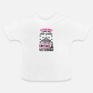 Marine Wife WOMAN VETERAN, veteran mom, veteran marine wife - Baby T-Shirt