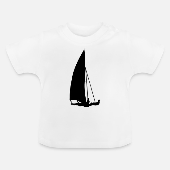 Martial Arts Baby Clothes - sailboat transport - Baby T-Shirt white