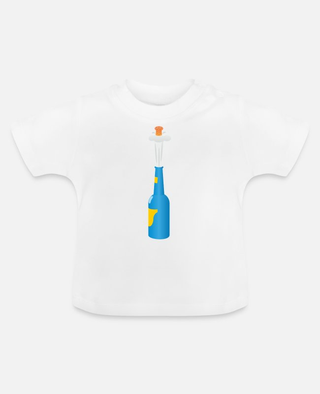 Vuurwerk Baby shirts - champagne - Baby T-shirt wit