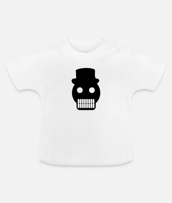 Headphones Baby T-Shirts - head - Baby T-Shirt white