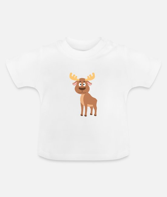 Peuters Baby shirts - eland - Baby T-shirt wit