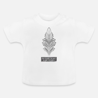 Graphic Art Art Rules Fall Leaf Coloring Templates - Baby T-Shirt