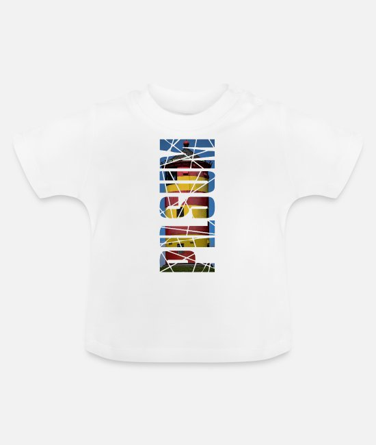 East Frisia Baby T-Shirts - Lighthouse Pilsum - gift - Baby T-Shirt white