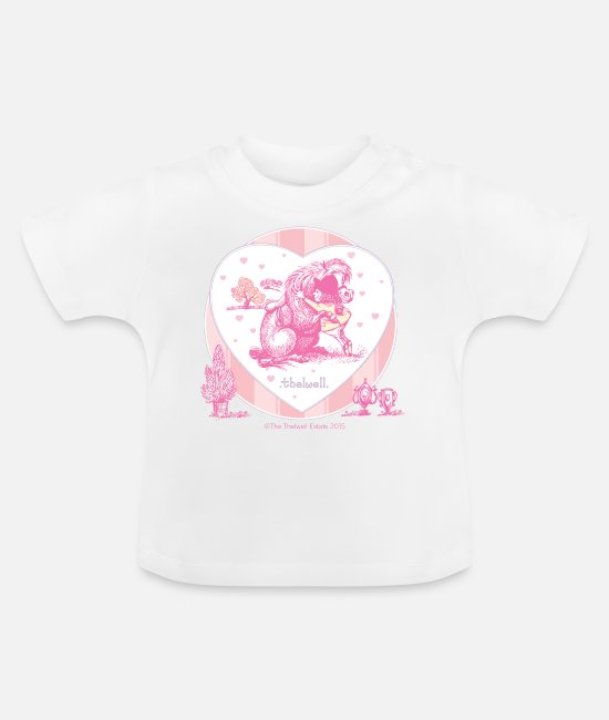 Western Baby shirts - Pony omarming Thelwell Cartoon - Baby T-shirt wit