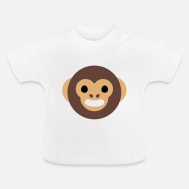 Cartoon Cartoon Monkey Face - Baby T-Shirt