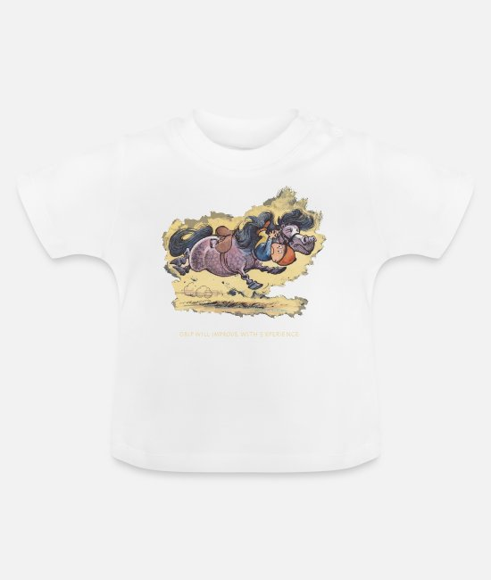 Ponny Baby shirts - Thelwell - Rider ist falling down - Baby T-shirt wit