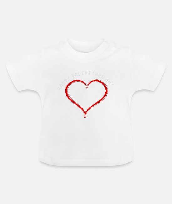 Love Baby Clothes - ValentinesDay Valentine's Day Love Love - Baby T-Shirt white