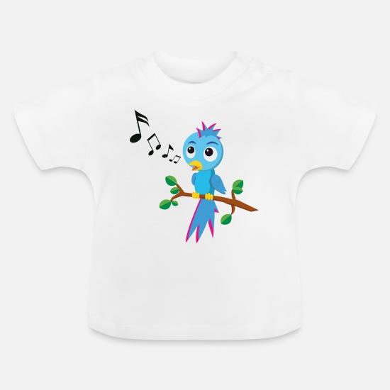 fb1d65e0b4bf Sing Baby Clothes - Little bird is singing / singing bird - Baby T-Shirt