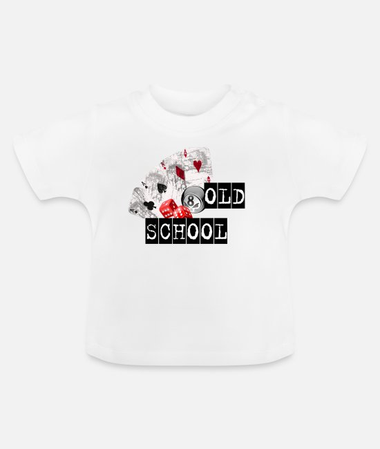 Psychobilly Baby T-Shirts - Old School - Baby T-Shirt Weiß