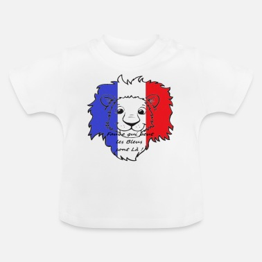 Portebonheur Lion supporter France - T-shirt Bébé