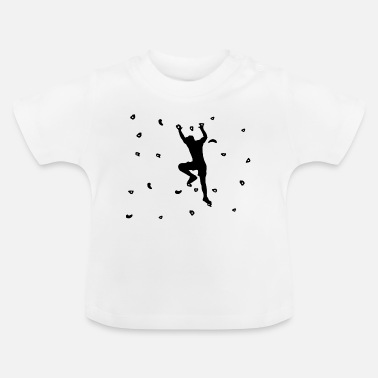 Wall Bouldering and climbing on climbing wall - Baby T-Shirt