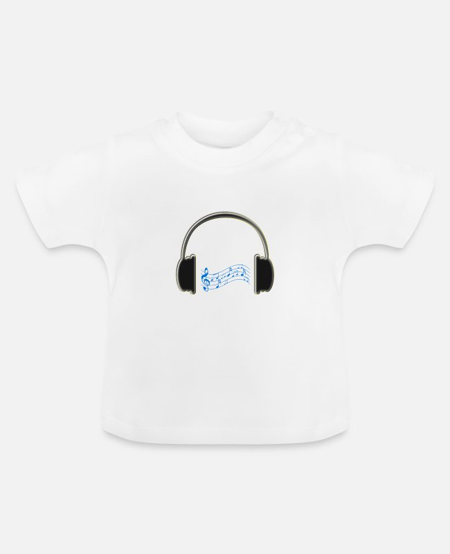Headphones Baby T-Shirts - Headphones - Baby T-Shirt white