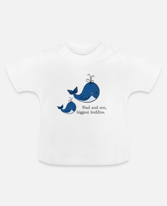 Walvis Baby shirts - vader en zoon - Baby T-shirt wit
