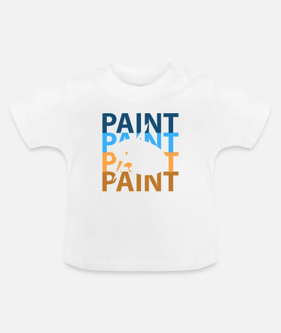 Artist Baby T-Shirts - To paint - Baby T-Shirt white