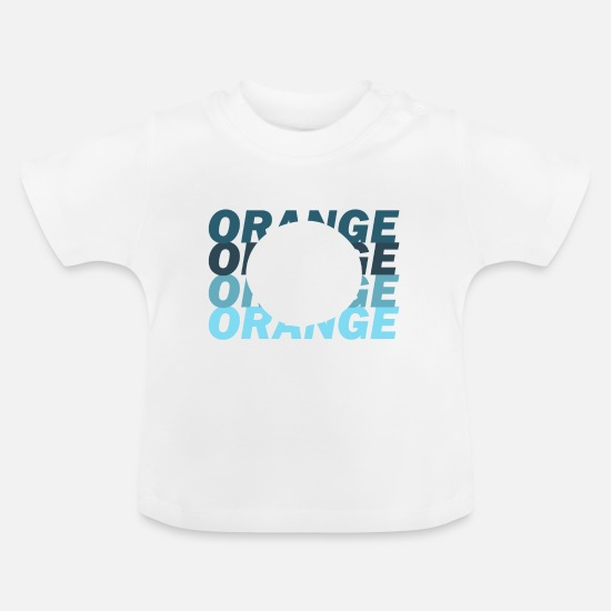 Orange Juice Baby Clothes - orange juice - Baby T-Shirt white
