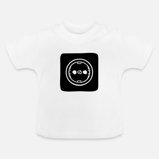Gift Idea Baby Clothes - A secure power outlet - Baby T-Shirt white