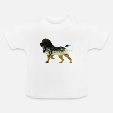 Steppe Lion in steppe - Baby T-shirt