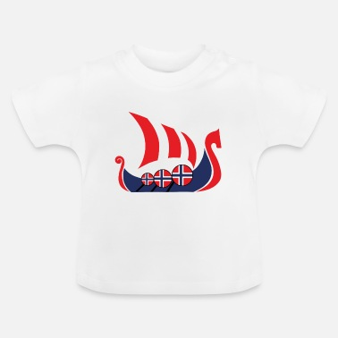 Norge Viking ship Norway present - T-shirt baby