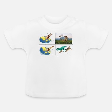 Apocalypse How The Dinosaurs Died Flat Earth Meteor T-Shirt - Baby T-Shirt