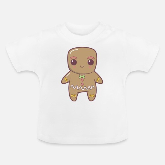 Gift Idea Baby Clothes - Gingerbread man - Baby T-Shirt white