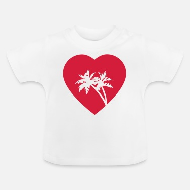 palmboom in hart - Baby T-shirt