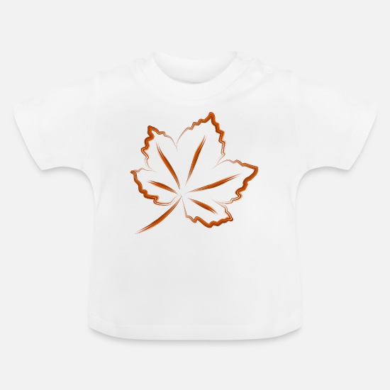 Forest Baby Clothes - leaf - Baby T-Shirt white