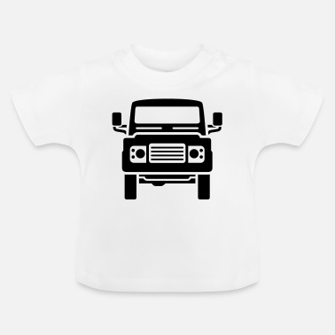Land Rover Defender Landie Defender illustration - Autonaut.com - Baby T-Shirt