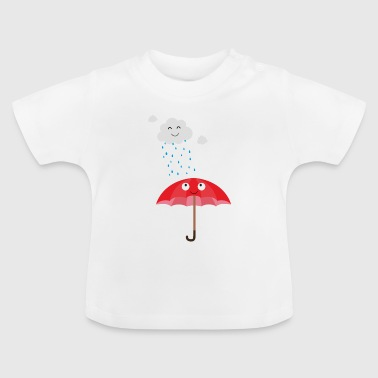 Cloud Rain cloud and umbrella - Baby T-Shirt