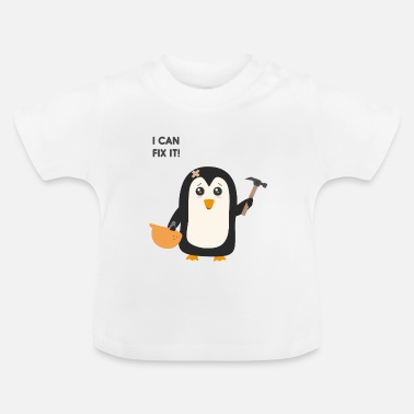 Construction Construction worker Penguin - Baby T-Shirt