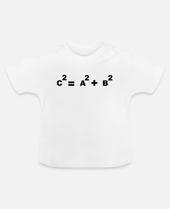 Professor Baby T-Shirts - Math symbol - the Pythagorean theorem - Baby T-Shirt white