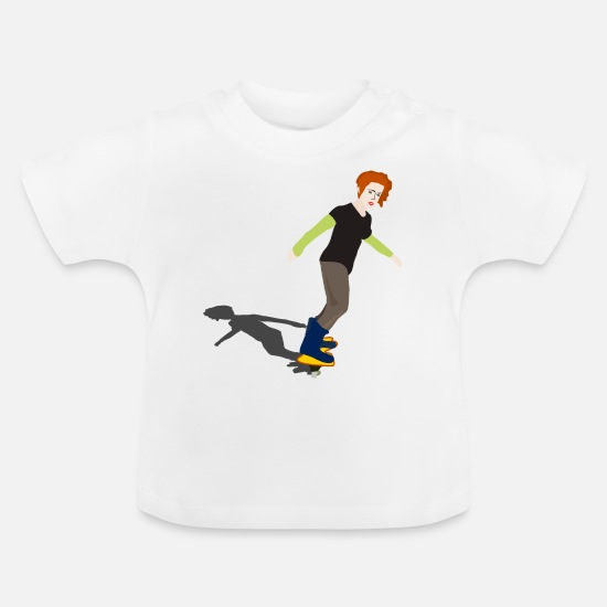 Boarders Baby Clothes - skater skateboard boarder skateboarding6 - Baby T-Shirt white
