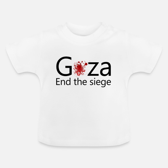 Arabia Baby Clothes - Gaza blood - Baby T-Shirt white