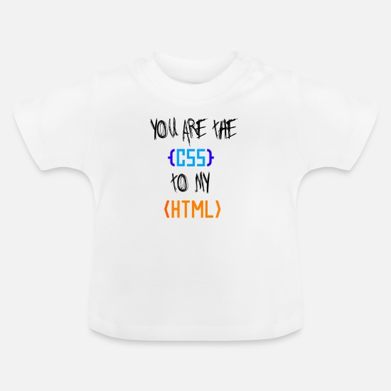 Blogger Baby Clothes - csstohtml - Baby T-Shirt white