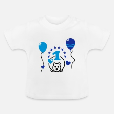 One One year old - Happy First Birthday Party ! 1 - Baby T-Shirt
