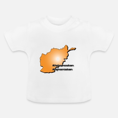 Style Islam Afghanistan country map in 3D style - Baby T-Shirt
