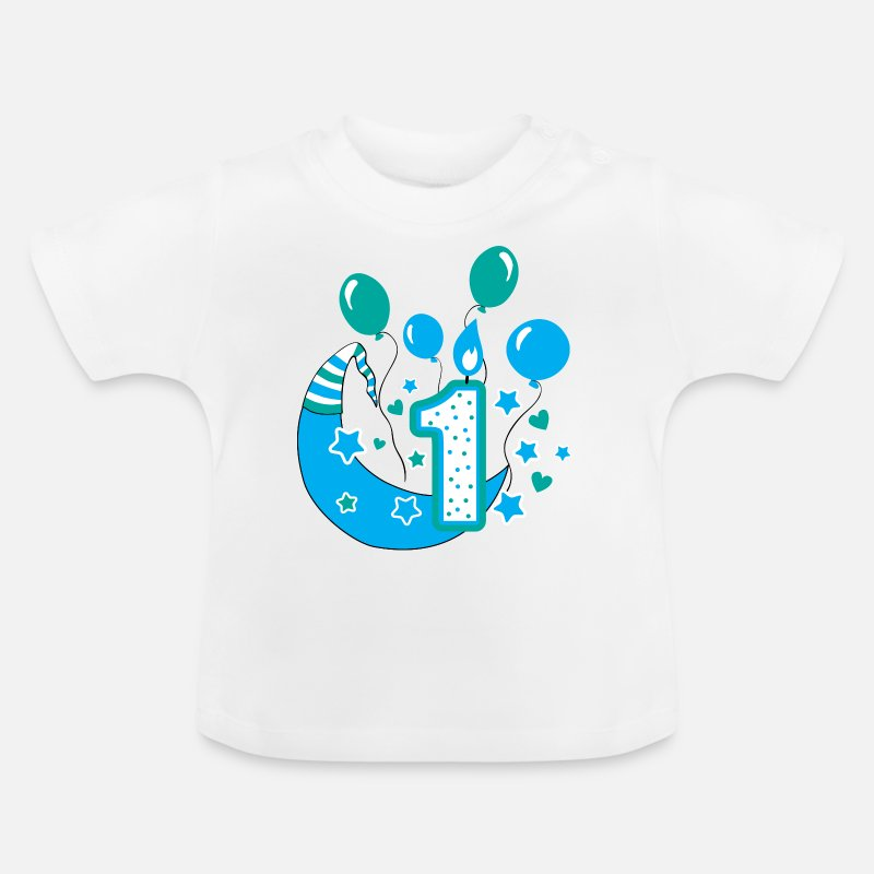 Baby T Shirtfirst Birthday 1st One Year Gift