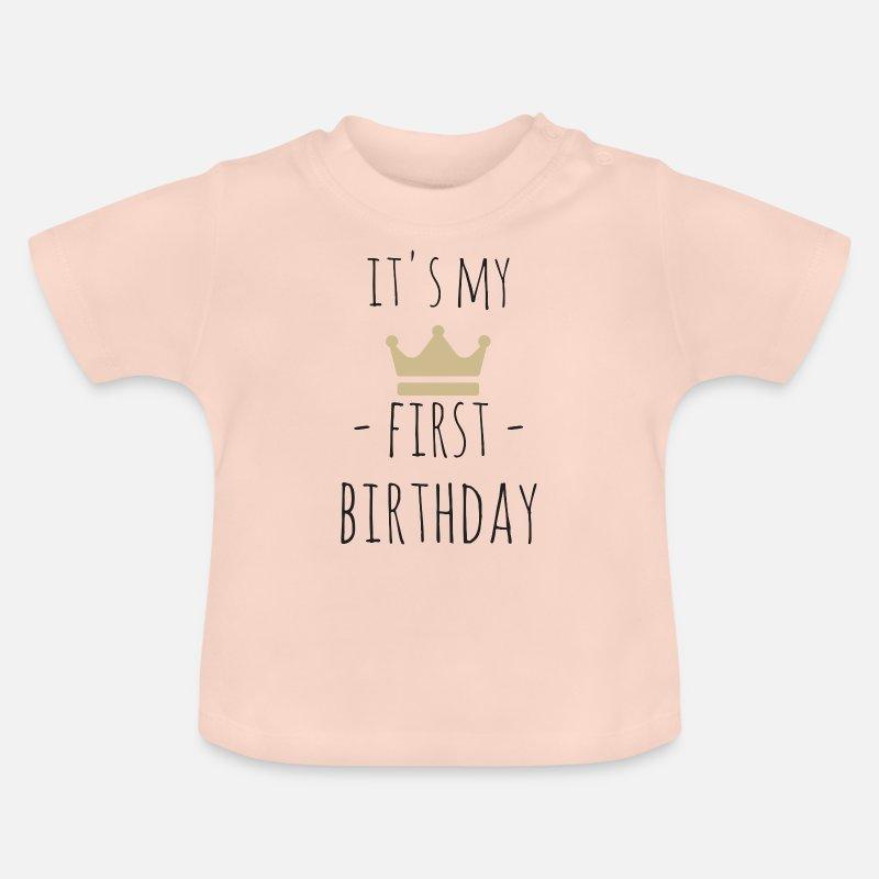 Het Is Mijn Eerste Verjaardag Baby T Shirt Spreadshirt