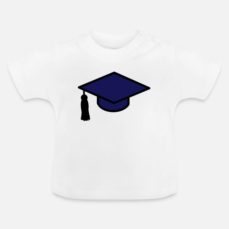 Abschluss Hut Vektorgrafik Schule Geschenkidee Baby T Shirt