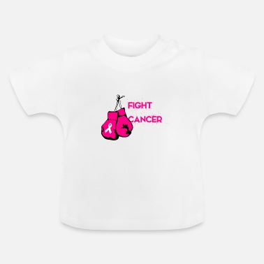 Krebs Fight Cancer Handschuh Rosa Pink Schleife - Baby T-Shirt