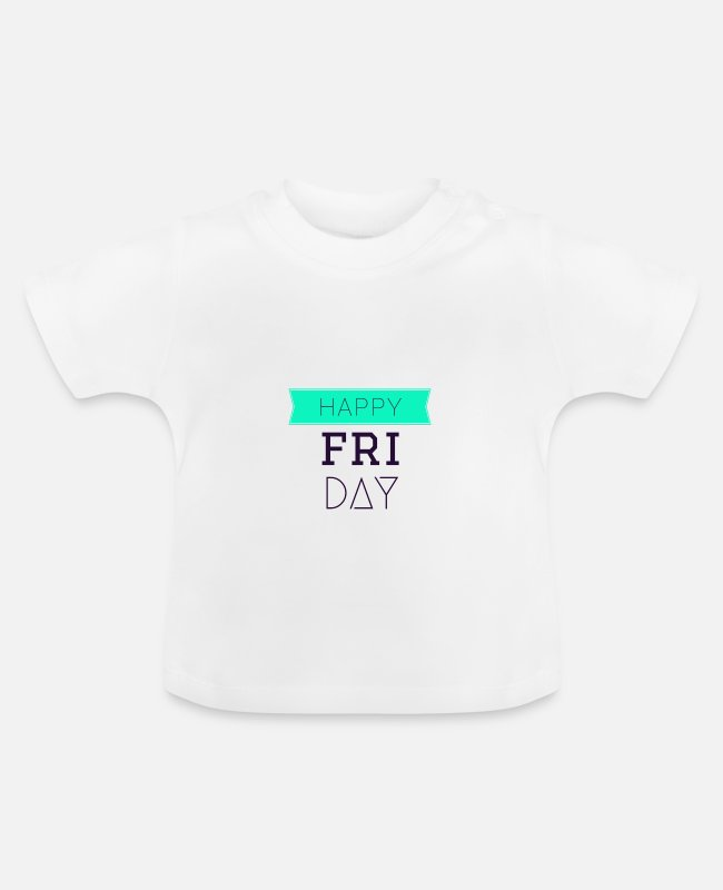 Gift Baby shirts - Happy Friday-geschenkidee - Baby T-shirt wit