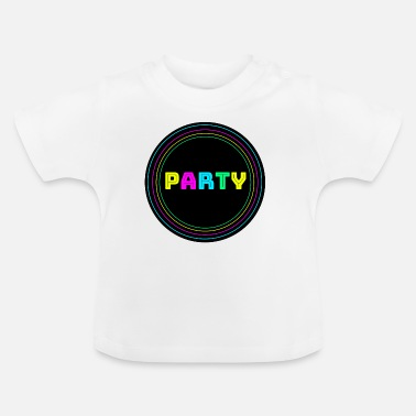 Neon Party circle neon - Baby T-Shirt